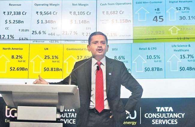 TCS Q3 profit jumps 24% YoY to Rs 8,105 crore - Sakshi