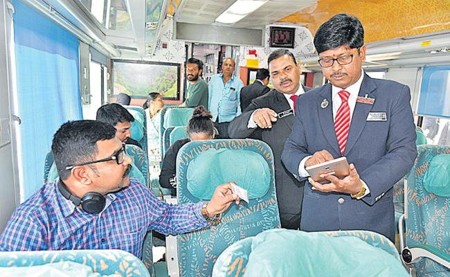 New technology for ticket  checking - Sakshi