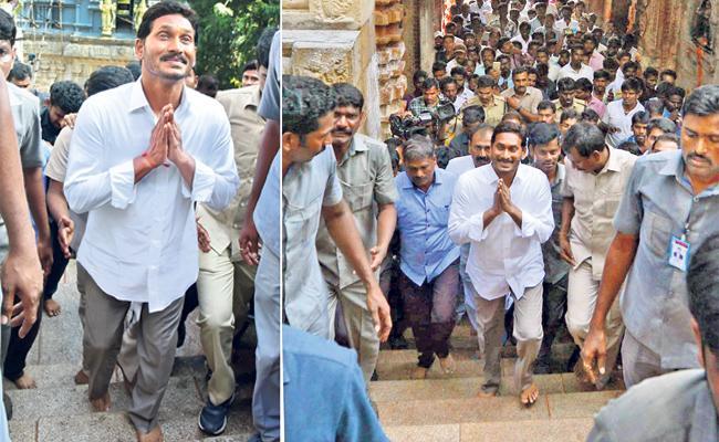 YS Jagan begins walk from Alipiri Metlu to Tirumala - Sakshi