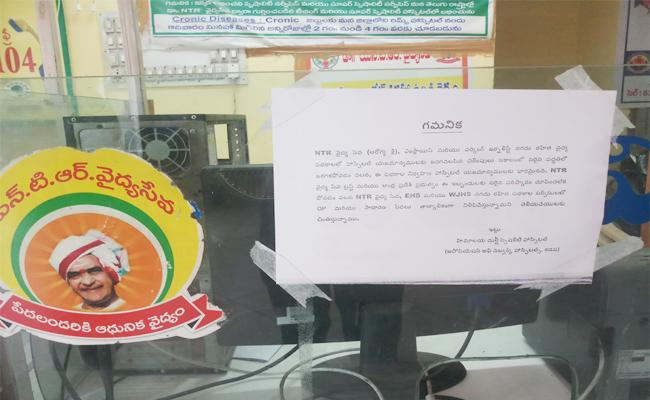 NTR Health Scheme Stops in Hospitals YSR Kadapa - Sakshi