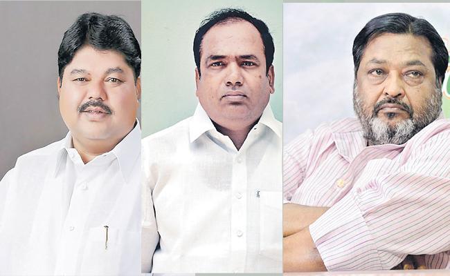 Suspension On Three Congress MLCs - Sakshi