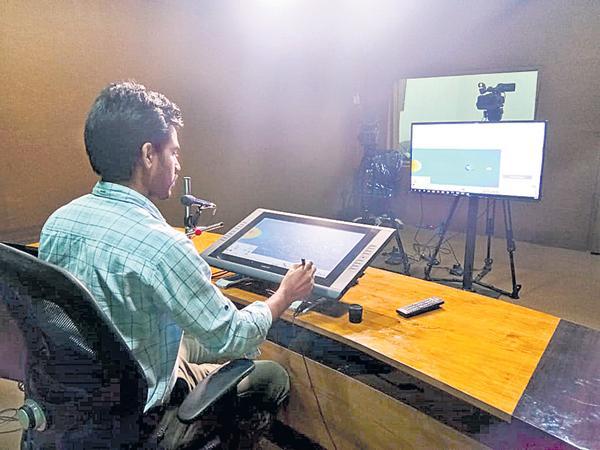 Teaching through live studio in residential schools - Sakshi
