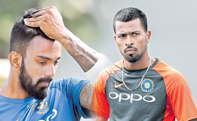Hardik Pandya, KL Rahul suspended, to miss ODI series against Australia and New Zealand - Sakshi