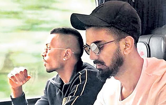 Hardik Pandya, KL Rahul suspended, to miss ODI series  - Sakshi