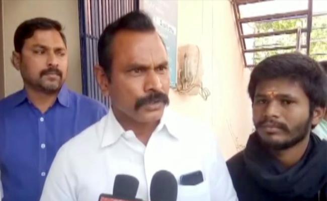 TDP MLA Prabhakar Chowdary Enthusiasm In Janmabhoomi Programme - Sakshi