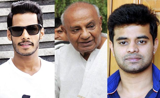 Deve Gowda Grandsons Likely To Contest In Lok Sabha Polls - Sakshi
