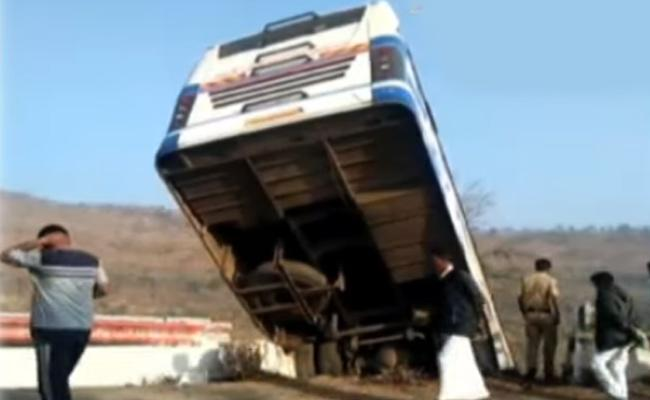 Bus Accident At Srisailam - Sakshi