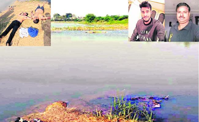 Two Persons Die In Pond Khammam - Sakshi