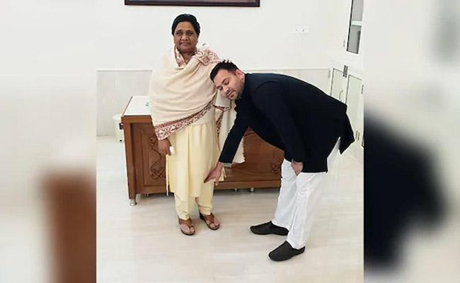 Tejashwi Yadav Meets BSP Chief Mayawati - Sakshi