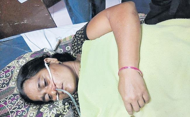 The former Sarpanch suicide attempt at kesamudram - Sakshi