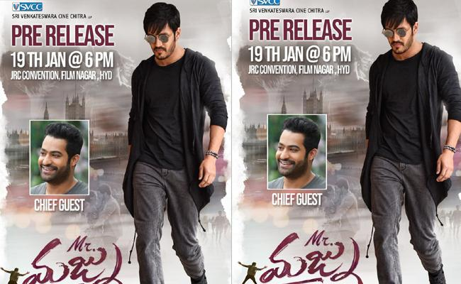 Jr NTR Chief Guest To Mr Majnu Pre Release Event - Sakshi