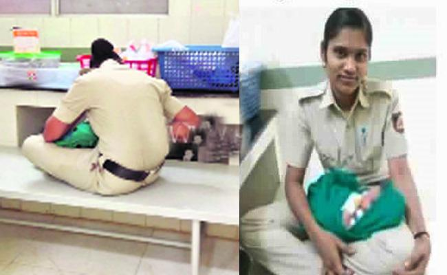 Woman Constable Breast Feed to Orphan Baby in Karnataka - Sakshi