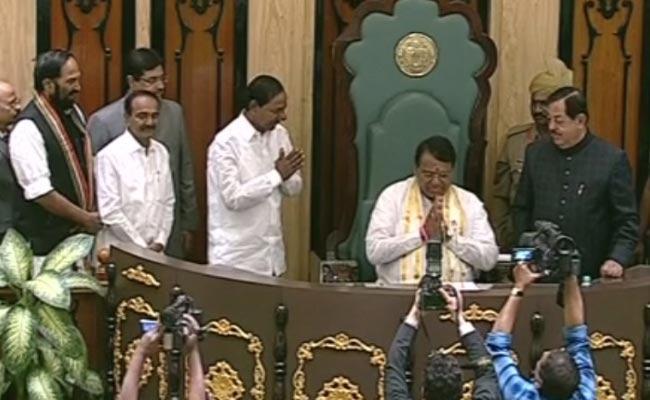 Pocharam Srinivas Reddy Elected As Assembly Speaker - Sakshi