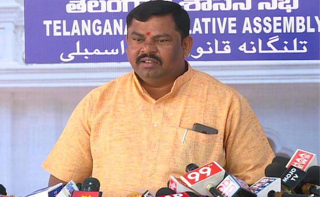 Raja Singh Take Oath As MLA In Assembly - Sakshi