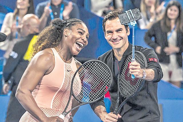 Roger Federer, Switzerland best Serena Williams - Sakshi