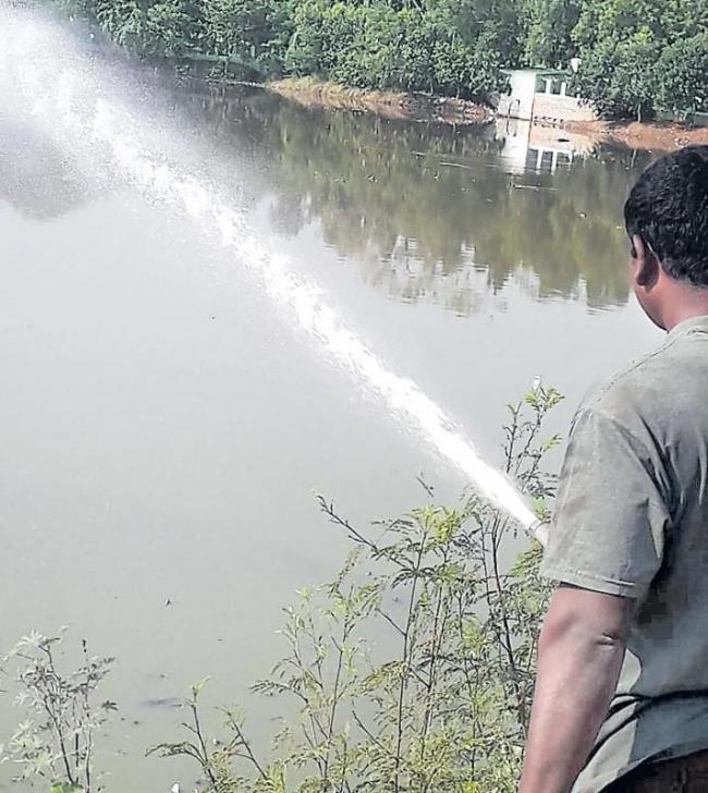 HMDA effort to purge stink from Hussainsagar pays off - Sakshi