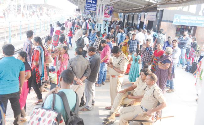 RTC And Railway Department Negligence on Festival Season - Sakshi