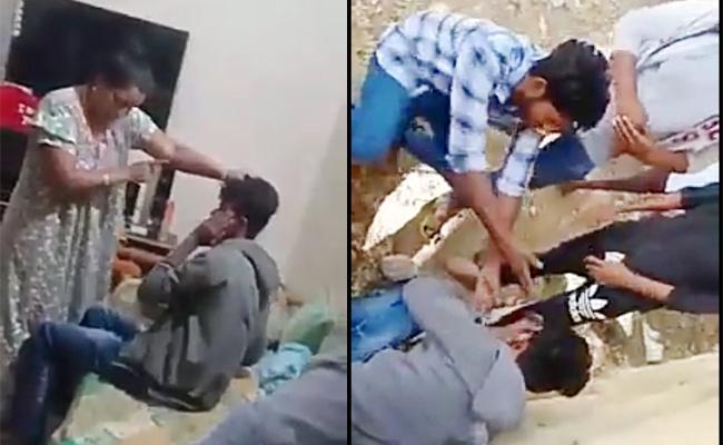 Woman Attack on Man in Chittoor Video Viral In Social Media - Sakshi