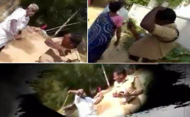 TDP Leaders And Supporters Raising In Attacks On Police In AP - Sakshi