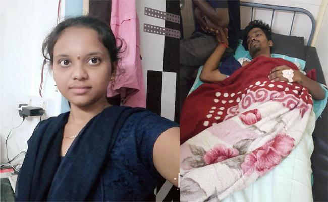 Lovers Commits Suicide Attempt in Visakhapatnam - Sakshi