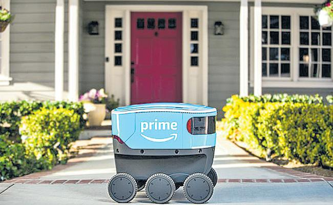 Amazon Prime Deliveries are designed to do robots without people - Sakshi