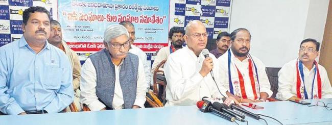 vangala eswaraiah strike in jantar mantar on obc reservation - Sakshi