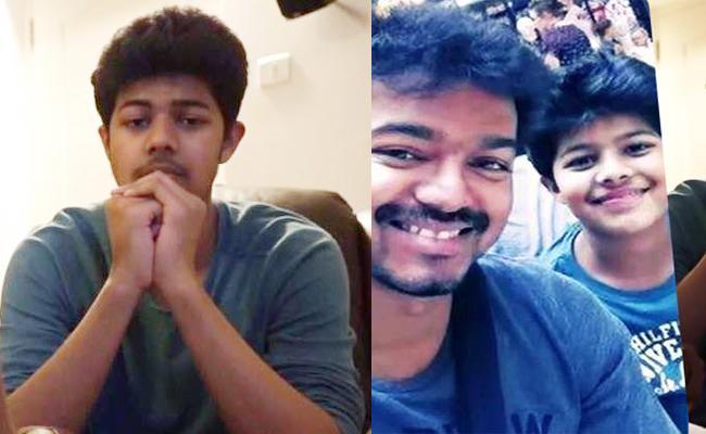 Hero Vijay Son Debut In Tamil Short Film - Sakshi