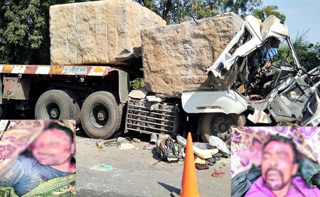 Lorry Accident Tow Members Dies In Warangal - Sakshi