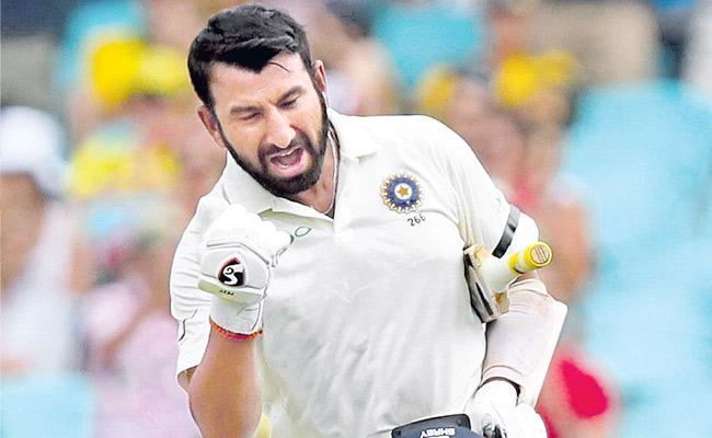 Pujara and Agarwal take India Day 1 in Sydney  - Sakshi