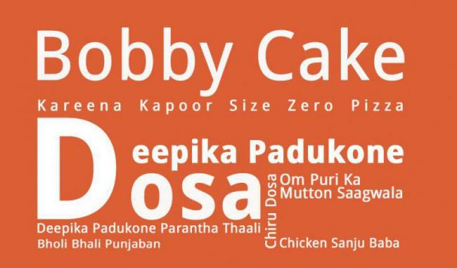 Latest Entry Of Dishes Named After Indian Film Stars - Sakshi