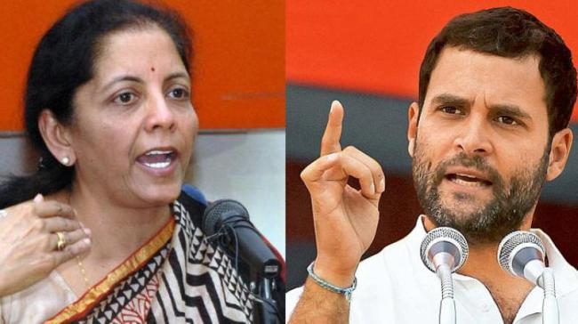 Rahul Gandhi Slams Nirmala Sitharaman Over Hal Orders - Sakshi