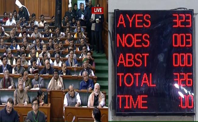 Lok Sabha Passes 10 Percent Quota For Economically Backward Class - Sakshi