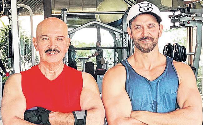 Hrithik Roshan Reveals Father Rakesh Roshan is Battling Cancer - Sakshi