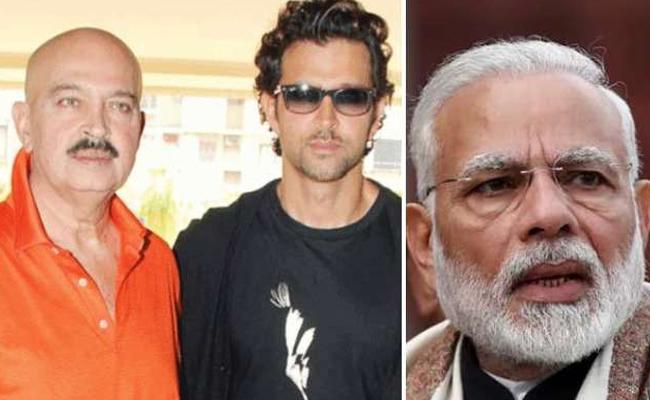 PM Modi Tweet To Hrithik Roshan About Rakesh Roshan Health - Sakshi