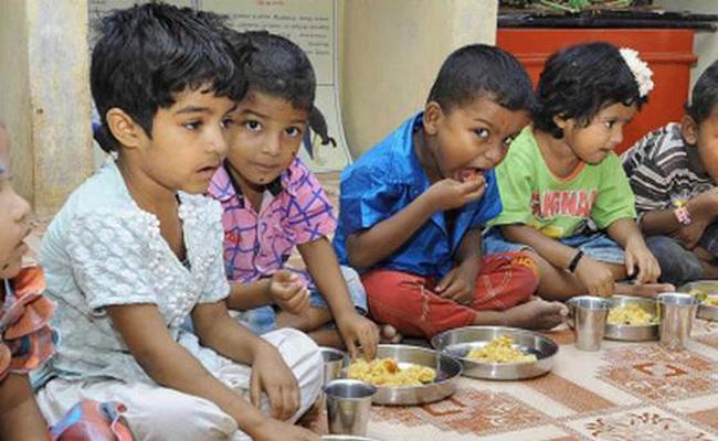 Anganwadi Centre Nutrition Food Implements Mahabubnagar - Sakshi