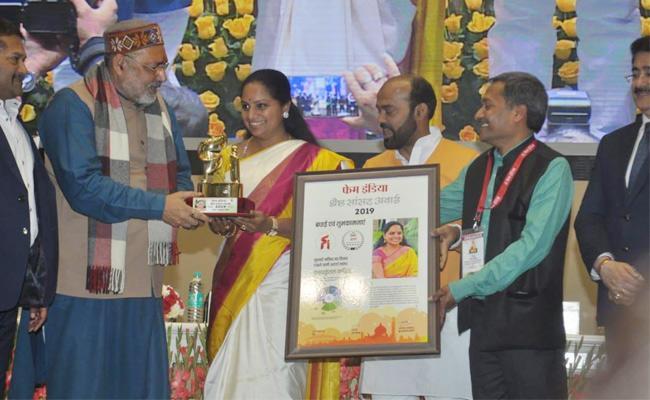 MP Kavitha Selected Best Parliament Awards - Sakshi