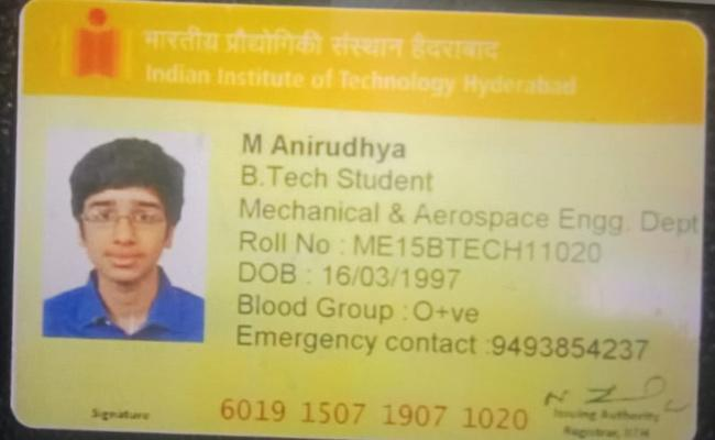 IIT Hyderabad Student Dies After Falling From Building In Kandi - Sakshi