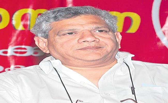 Poll Alliances Depends On State Level Situation Says Sitaram Yechury - Sakshi