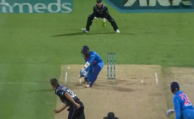 A ball of 19th over looks like a wide, But not Wide call - Sakshi