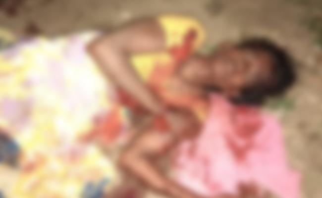 Husband Knife Attack on Wife in Krishna - Sakshi