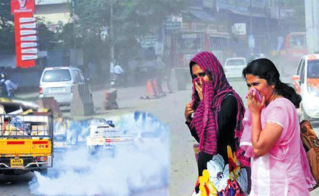 Air Pollution Danger Position in Hyderabad - Sakshi