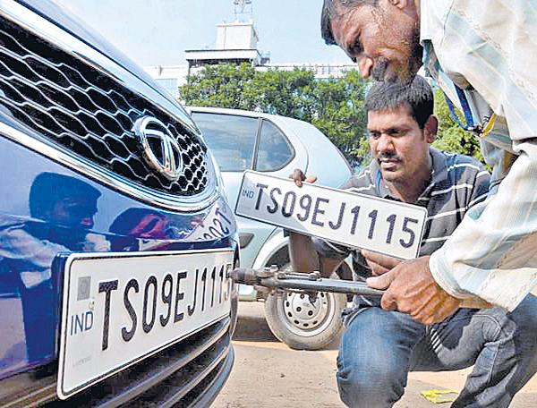 Number plate in the showroom from April 1 - Sakshi