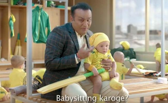 Matthew Hayden reacts to Sehwags babysitting ad - Sakshi
