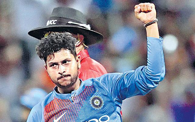 Kuldeep Yadav Reaches Career-best Spot in ICC T20I Rankings - Sakshi