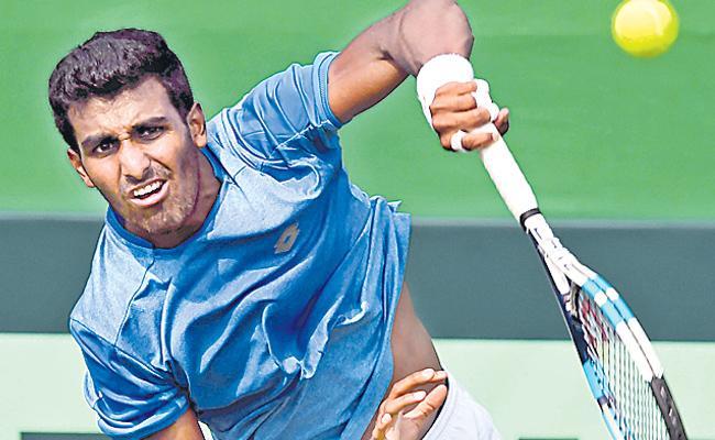 Prajnesh Gunneswaran rises to career-best 97 in ATP rankings - Sakshi