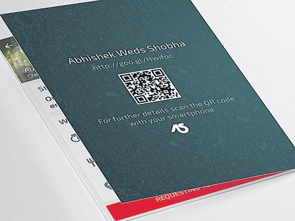 QR code on the wedding card - Sakshi