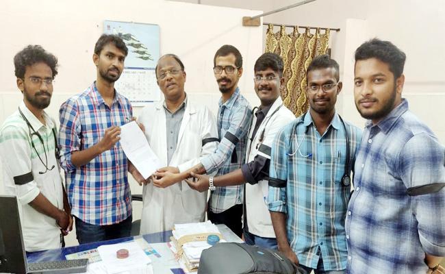 Ruia Hospital Junior Doctors Committed Strike - Sakshi