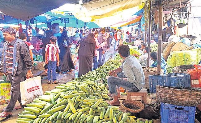 Vegetable  Prices Hikes in Hyderabad Markets - Sakshi