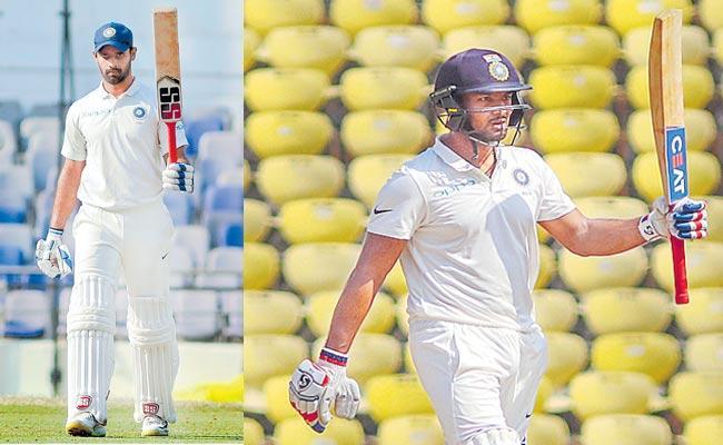 Vidarbha Bowl Out Rest of India for 330 Despite Vihari Ton - Sakshi