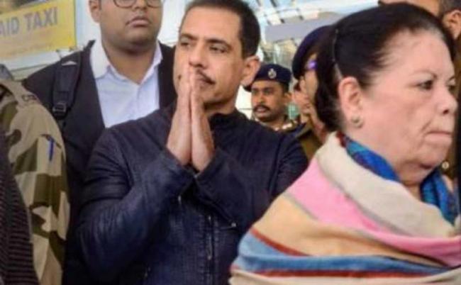 Robert Vadra, mother Maureen questioned by ED over Bikaner land deal - Sakshi